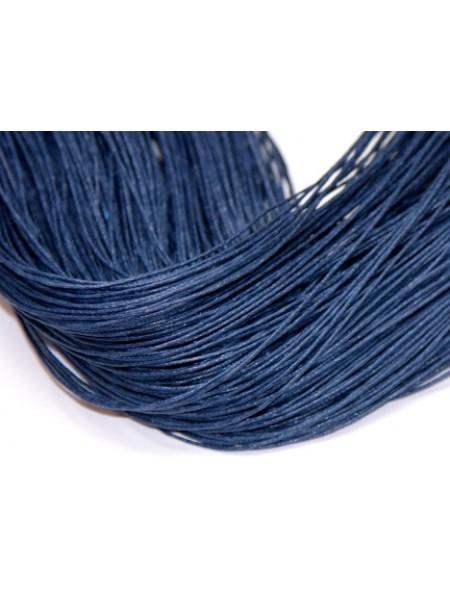 Вощеный шнур,1 мм. тёмно-синий,,цена за 1 метр