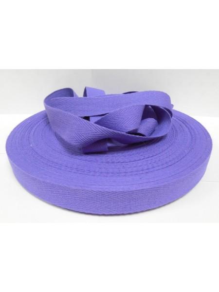 Лента хлопковая( киперная,фиолетовая ),20мм,цена за 1 метр