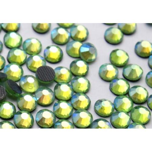 Стразы термоклеевые DMC-SS-16-светло-салатовые,№8,цена за 10 шт