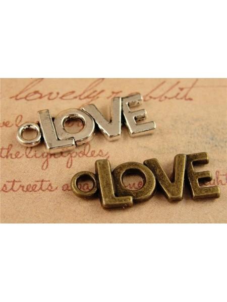 Подвеска Love-серебро,цена за 1 шт