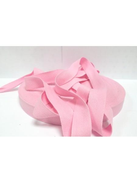 Лента хлопковая( киперная,розовая ),10мм,цена за 1 метр