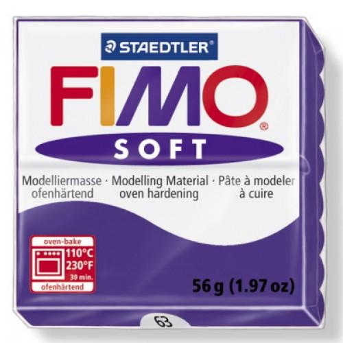 Полимерная глина Фимо FIMO Софт сливовый-63
