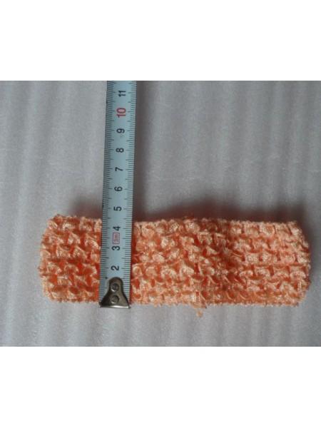 Повязка для волос эластичная.персиковая