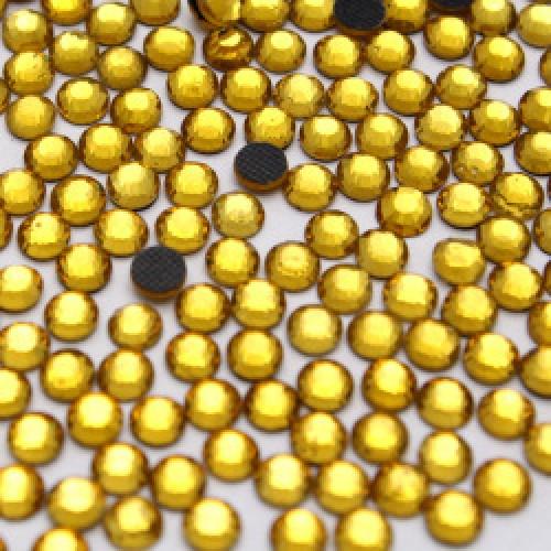 Стразы термоклеевые DMC-SS-16-жёлтые,№7,цена за 10 шт