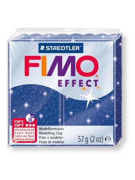 Полимерная глина FIMO effect,57гр,синий с блеском