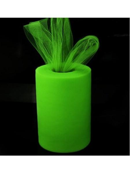 Лента фатиновая, 15 см цв-№-19-зелёная фисташка,цена за 1 метр