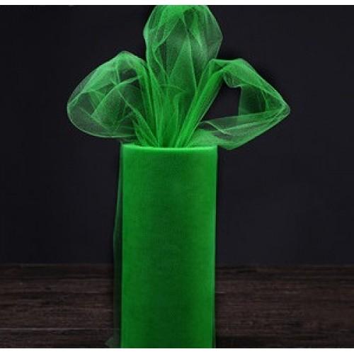 Лента фатиновая, 15 см цв-№-20-зелёный,цена за 1 метр