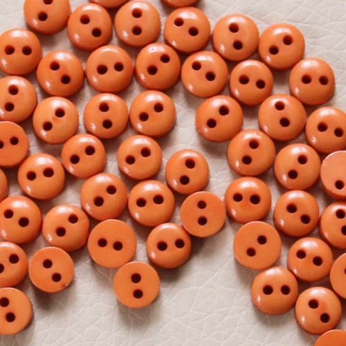 Пуговицы мини-6мм,цвет оранжевый. Цена за 1 шт