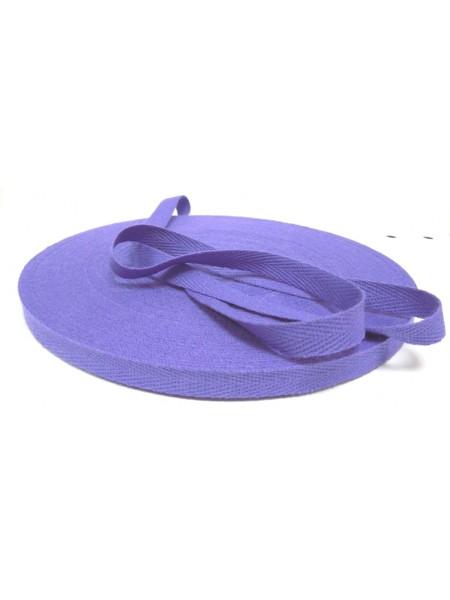 Лента хлопковая( киперная,фиолетовая ),10мм,цена за 1 метр