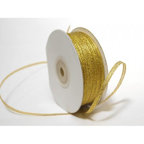 Металлизированная тесьма, золото,3мм,Цена за 1 метр