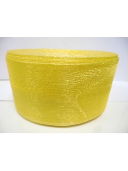 Органза,жёлтая,50мм,цена за метр