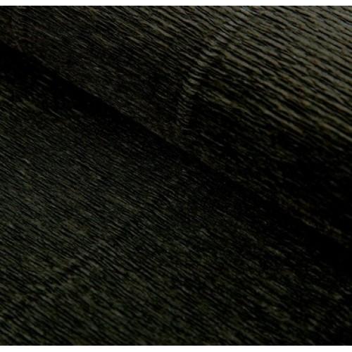 Бумага гофрированная-CARTOTECNICA ROSSI, цв чёрный №602