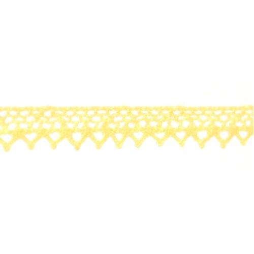 Кружево вязанное, хлопок,0,8см.цв жёлтый,002-10.цена за 1 м