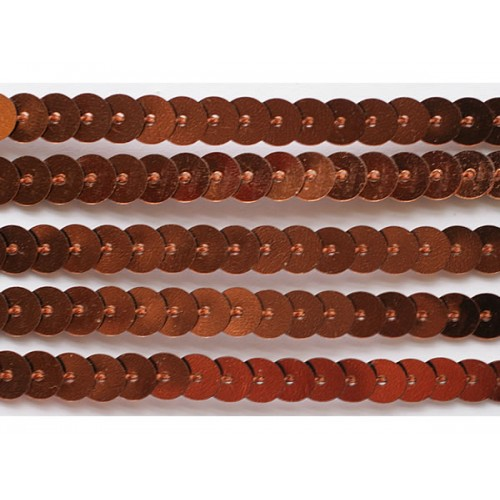 Пайетки на нити,цв-медный,цена за 1 метр