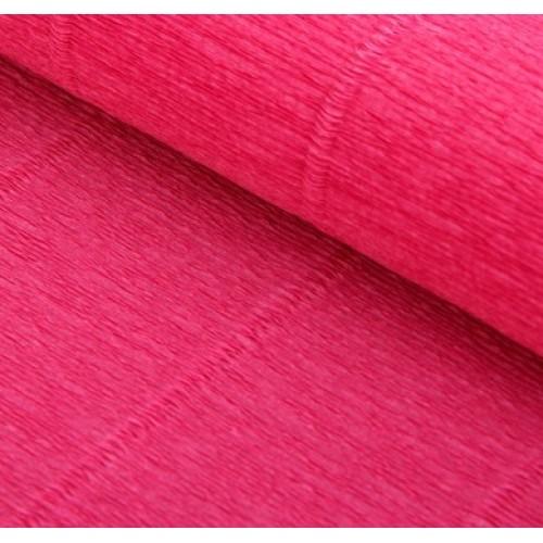 Бумага гофрированная-CARTOTECNICA ROSSI, цв тёмно-розовый №550