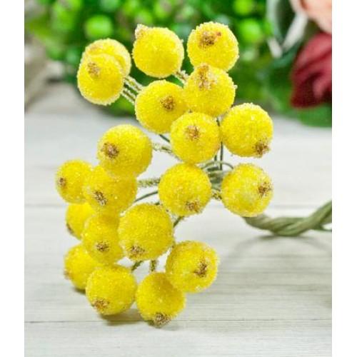 Ягодки зимние, жёлтые, цена за 20шт