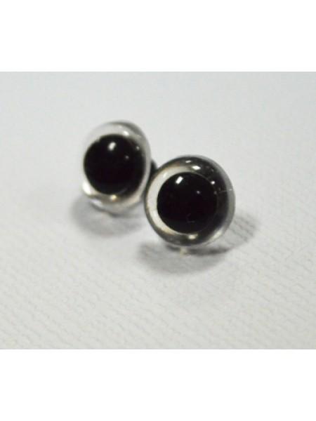 Глаза пришивные (на петле) 11 мм ,белые,цена за пару