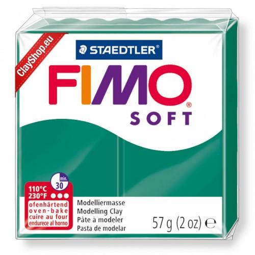 Полимерная глина Фимо FIMO Софт №56-изумруд