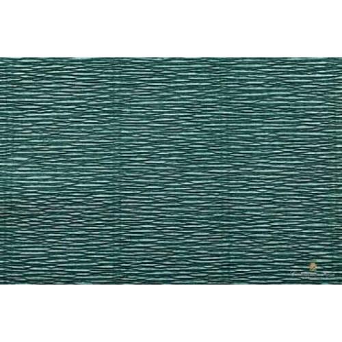 Бумага гофрированная-CARTOTECNICA ROSSI, цв морской тёмно-зелёный  №560