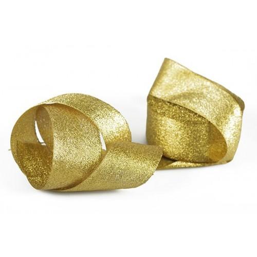 Металлизированная тесьма(парча),цв-золото,5см,цена за 1 метр