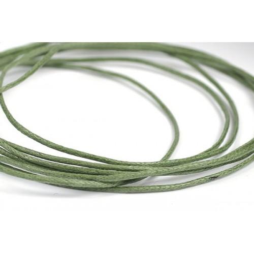 Вощеный шнур,1 мм. цвет тёмно-болотный,цена за 1 метр