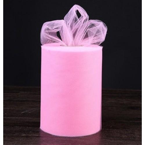 Лента фатиновая, 15 см цв-№-2-розовый,цена за 1 метр