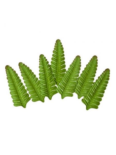 Набор листочков, Папоротник,зелёные, набор 8 шт,