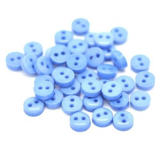 Пуговицы мини-6мм,цвет голубой. Цена за 1 шт