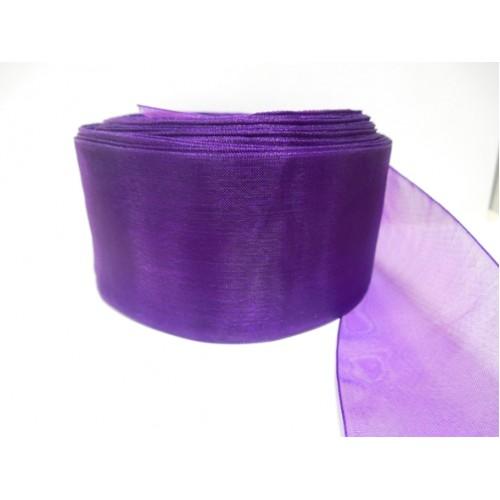 Органза,фиолетовый,50мм,цена за метр
