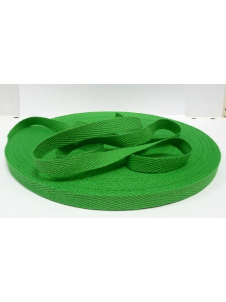Лента хлопковая( киперная,зелёная),10мм,цена за 1 метр