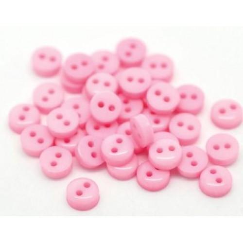 Пуговицы мини-6мм,цвет розовый. Цена за 1 шт