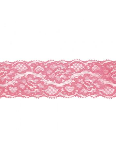 Кружево эластичное,5,8см,цв-тёмно-розовый, цена за 50см!