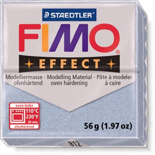 Полимерная глина FIMO effect,57гр,серебрянный с блестками