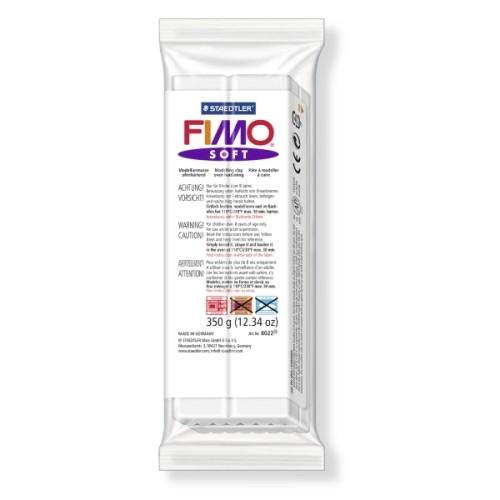 Полимерная глина Фимо FIMO Софт белый - 454гр