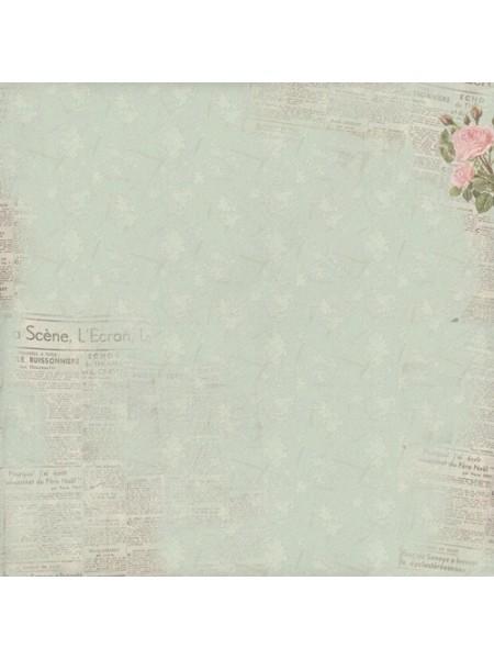 "Бумага односторонняя,""Французское путешествие""-Летний бриз,цена за 1 лист"