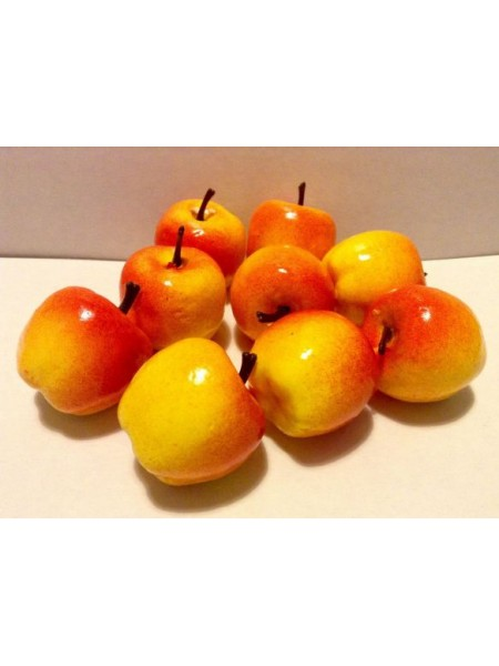 Яблочко красно-жёлтое,цена за 1шт