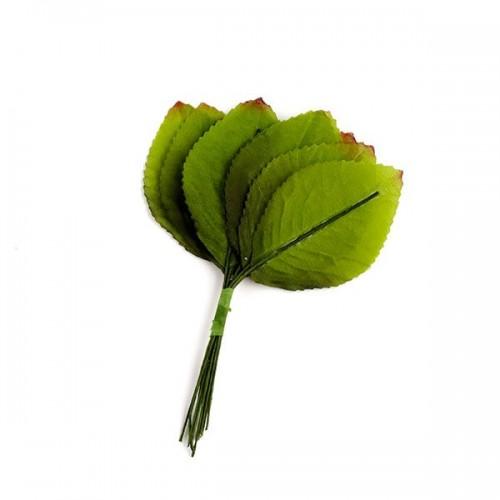 Листочки гофрированные,зелёные с тонировкой
