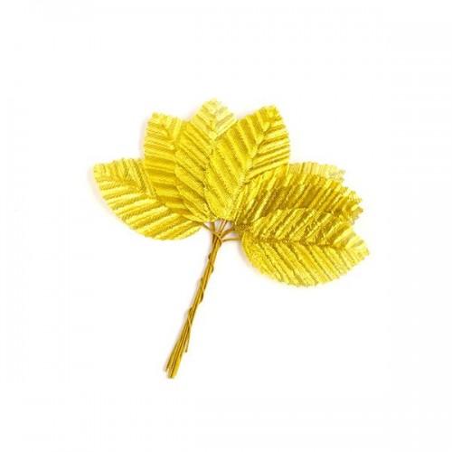 Листочки гофрированные,золото