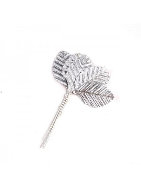 Листочки гофрированные,серебро