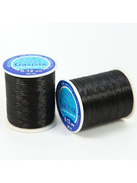 Мононить 0,12мм-250м ,цв-чёрный, цена за катушку