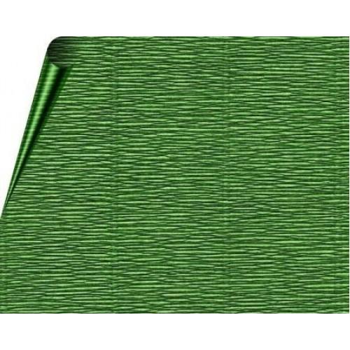 Бумага гофрированная-CARTOTECNICA ROSSI, цв зелёный  №591