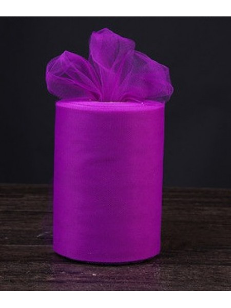 Лента фатиновая, 15 см цв-№-49-лиловый,цена за 1 метр