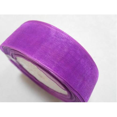 Лента органза однотонная.фиолетовый.25мм, цена за 1 метр