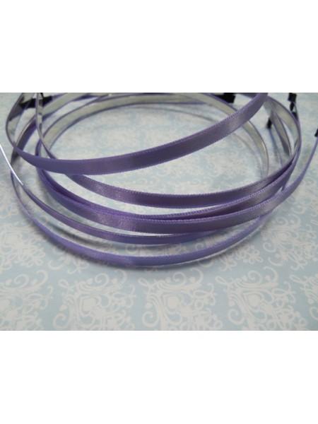 Заготовка-ободок для волос с сиреневой лентой ,6мм