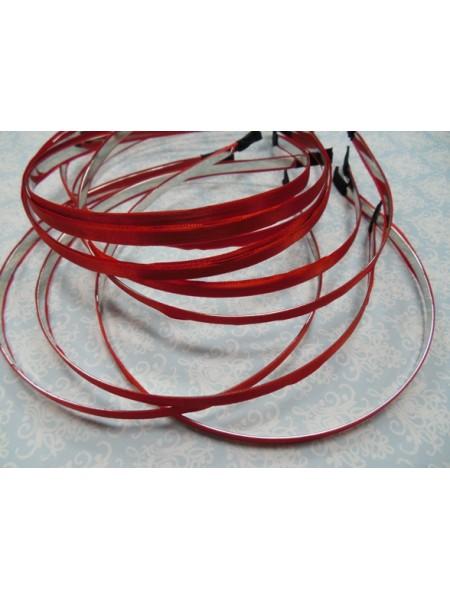 Заготовка-ободок для волос с красной лентой  ,5мм