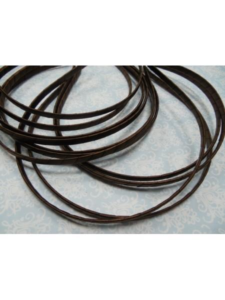 Заготовка-ободок для волос,обмотка тёмно-коричневая ,5мм