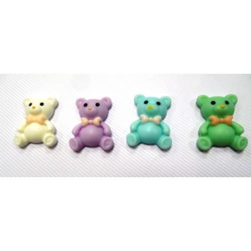 Декоративный элемент - мишка фиолетовый