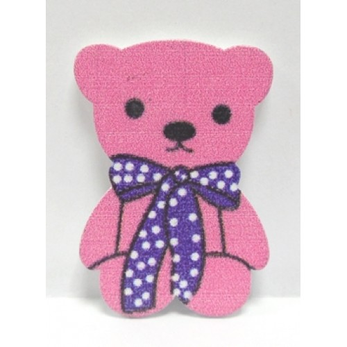 Стикер Мишка розовый(без клеевого слоя),цена за 1шт