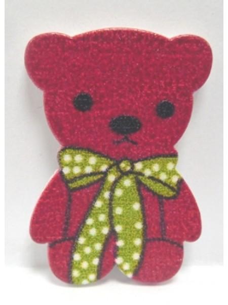 Стикер Мишка красный(без клеевого слоя),цена за 1шт