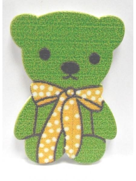 Стикер Мишка зелёный(без клеевого слоя),цена за 1шт